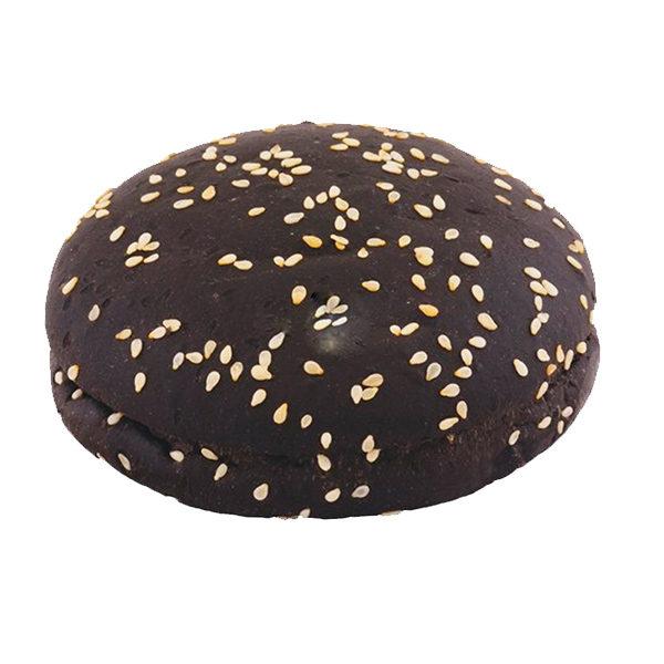 Булочка для гамбургера 125 (Черная) с кунжутом