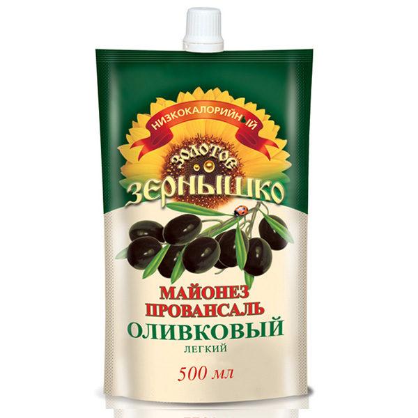 Майонезный соус Золотое зернышко оливковый 500 мл