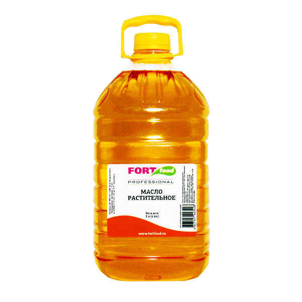 """Профессиональное растительное масло 5л ТМ """"Fortfood"""""""